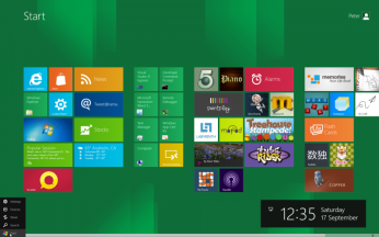 Windows 8 start menu gets a new look