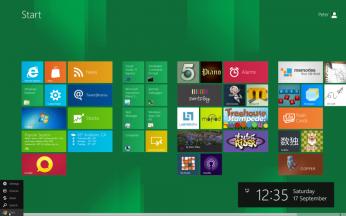 Windows 8 start menu gets a new look