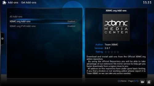 XBMC repos